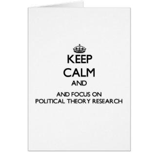 Behalten Sie Ruhe und Fokus auf politische Grußkarte
