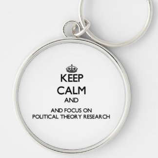 Behalten Sie Ruhe und Fokus auf politische Schlüsselband