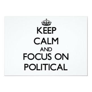 Behalten Sie Ruhe und Fokus auf politischem 12,7 X 17,8 Cm Einladungskarte