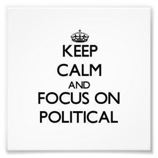 Behalten Sie Ruhe und Fokus auf politischem Fotografie