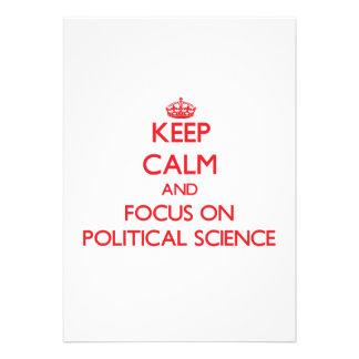 Behalten Sie Ruhe und Fokus auf politischer Personalisierte Einladungskarten