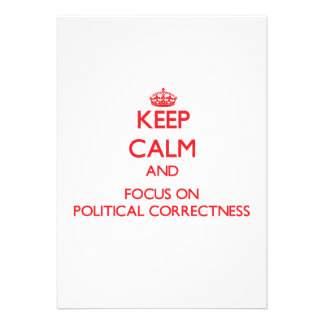 Behalten Sie Ruhe und Fokus auf politischer Individuelle Ankündigskarten