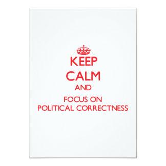 Behalten Sie Ruhe und Fokus auf politischer 12,7 X 17,8 Cm Einladungskarte