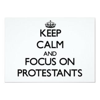Behalten Sie Ruhe und Fokus auf Protestanten 12,7 X 17,8 Cm Einladungskarte