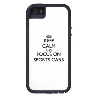 Behalten Sie Ruhe und Fokus auf Sport-Autos iPhone 5 Schutzhülle