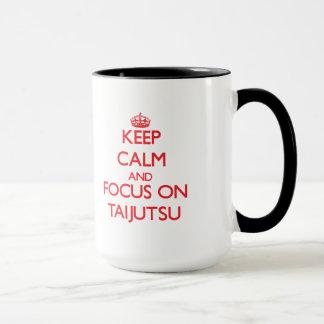 Behalten Sie Ruhe und Fokus auf Taijutsu Tasse