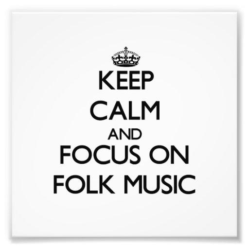 Behalten Sie Ruhe und Fokus auf Volksmusik Kunstphotos