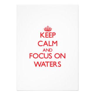 Behalten Sie Ruhe und Fokus auf Wasser Personalisierte Einladungskarten