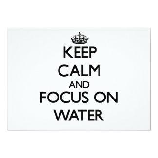 Behalten Sie Ruhe und Fokus auf Wasser 12,7 X 17,8 Cm Einladungskarte