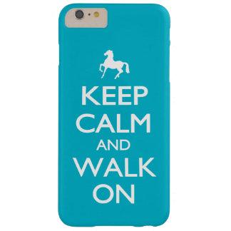 Behalten Sie Ruhe und gehen Sie an Barely There iPhone 6 Plus Hülle