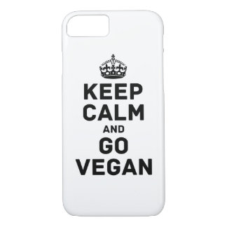 Behalten Sie Ruhe und gehen Sie vegan iPhone 8/7 Hülle