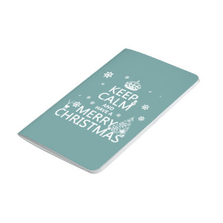 Behalten Sie Ruhe und haben Sie frohen Weihnachten Taschennotizbuch