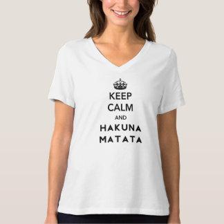 Behalten Sie Ruhe und Hakuna Matata T-Shirt