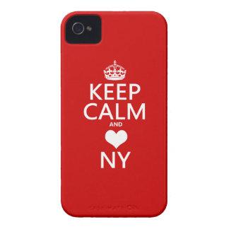 Behalten Sie Ruhe und Herz New York iPhone 4 Cover