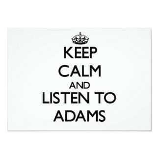 Behalten Sie Ruhe und hören Sie auf Adams 12,7 X 17,8 Cm Einladungskarte
