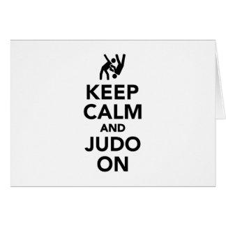 Behalten Sie Ruhe und Judo an Grußkarte