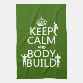 Behalten Sie Ruhe-und Körper-Gestalt Handtuch
