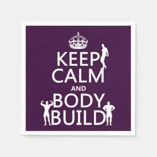 Behalten Sie Ruhe-und Körper-Gestalt Papierserviette
