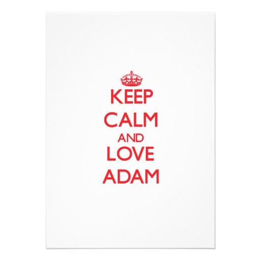 Behalten Sie Ruhe und Liebe Adam Einladungskarten