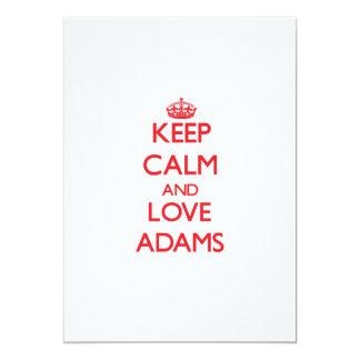Behalten Sie Ruhe und Liebe Adams Individuelle Einladung