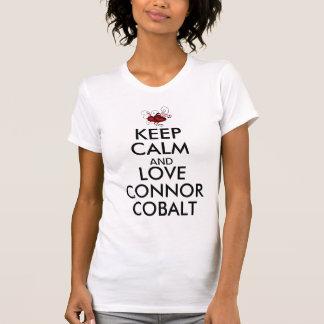Behalten Sie Ruhe-und Liebe-Connor-Kobalt T-Shirt