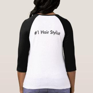 Behalten Sie Ruhe und Liebe der Hairstylist #1 T-Shirt
