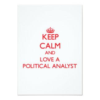 Behalten Sie Ruhe und Liebe ein politischer Individuelle Ankündigungen