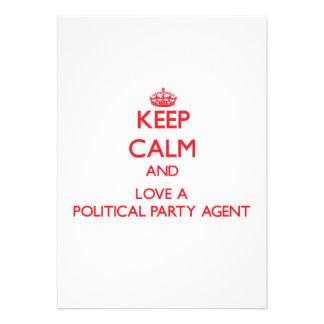 Behalten Sie Ruhe und Liebe ein politischer Individuelle Einladungskarte