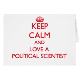 Behalten Sie Ruhe und Liebe ein politischer Karte