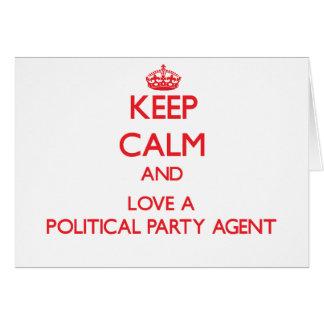 Behalten Sie Ruhe und Liebe ein politischer Grußkarten