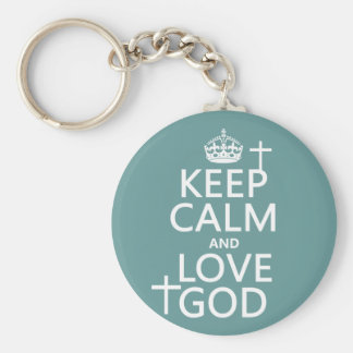 Behalten Sie Ruhe-und Liebe-Gott - alle Farben Schlüsselanhänger