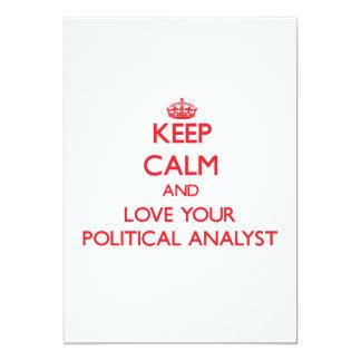 Behalten Sie Ruhe und Liebe Ihr politischer Individuelle Einladung