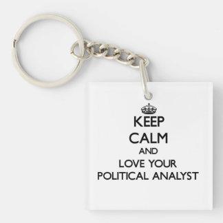 Behalten Sie Ruhe und Liebe Ihr politischer Schlüssel Anhänger