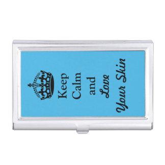 Behalten Sie Ruhe und Liebe Ihre Haut Visitenkarten-Behälter