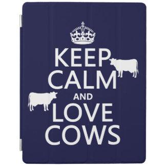 Behalten Sie Ruhe-und Liebe-Kühe (alle Farben) iPad Smart Cover