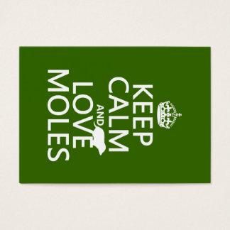 Behalten Sie Ruhe-und Liebe-Molen (irgendeine Visitenkarte