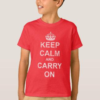 Behalten Sie Ruhe und machen Sie Vintages weiter T-Shirt