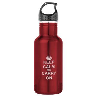 Behalten Sie Ruhe und machen Sie Vintages weiter Trinkflasche