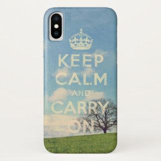 behalten Sie Ruhe und machen Sie weiter iPhone X Hülle