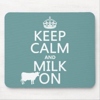 Behalten Sie Ruhe und Milch auf (Kühe) (in allen Mauspads