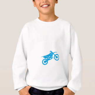 Behalten Sie Ruhe-und Motocross-großes Geschenk Sweatshirt