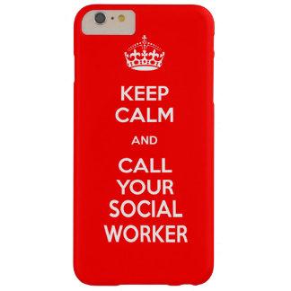 Behalten Sie Ruhe und nennen Sie Ihren Barely There iPhone 6 Plus Hülle