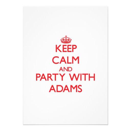 Behalten Sie Ruhe und Party mit Adams Individuelle Einladungen