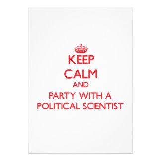 Behalten Sie Ruhe und Party mit einem politischen Personalisierte Ankündigungskarten