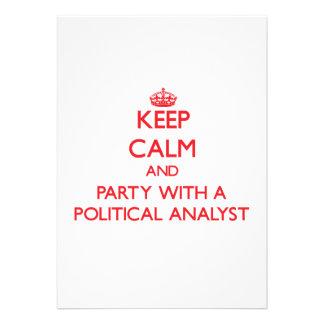 Behalten Sie Ruhe und Party mit einem politischen Individuelle Einladungen