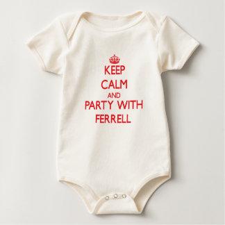 Behalten Sie Ruhe und Party mit Ferrell Baby Strampler