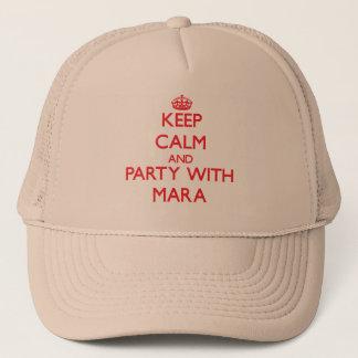 Behalten Sie Ruhe und Party mit Mara Truckerkappe