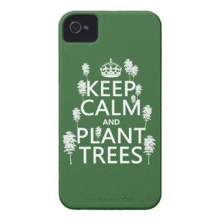 Behalten Sie Ruhe und Pflanzen-Bäume (alle Farben) iPhone 4 Cover