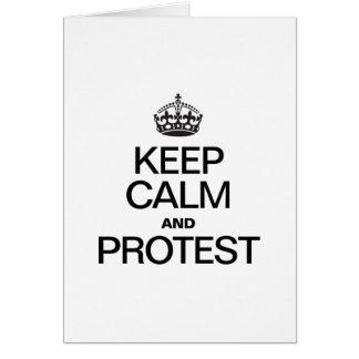 BEHALTEN SIE RUHE UND PROTEST GRUßKARTE