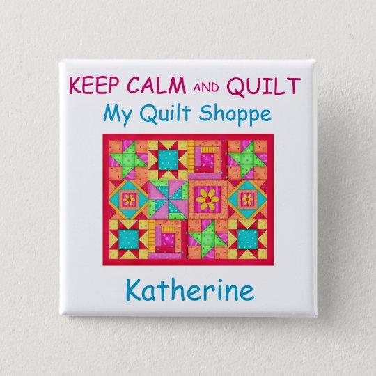 Behalten Sie Ruhe-und Quadratischer Button 5,1 Cm